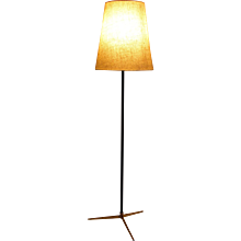Brass Floor Lamp by J. T. Kalmar 1960