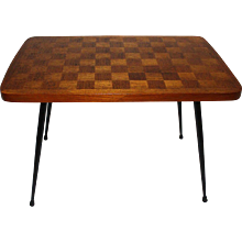 Side Table with Checker Board Vienna 1950