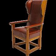 Biedermeier Solid Cherrywood Wingback Chair circa 1830 Austria