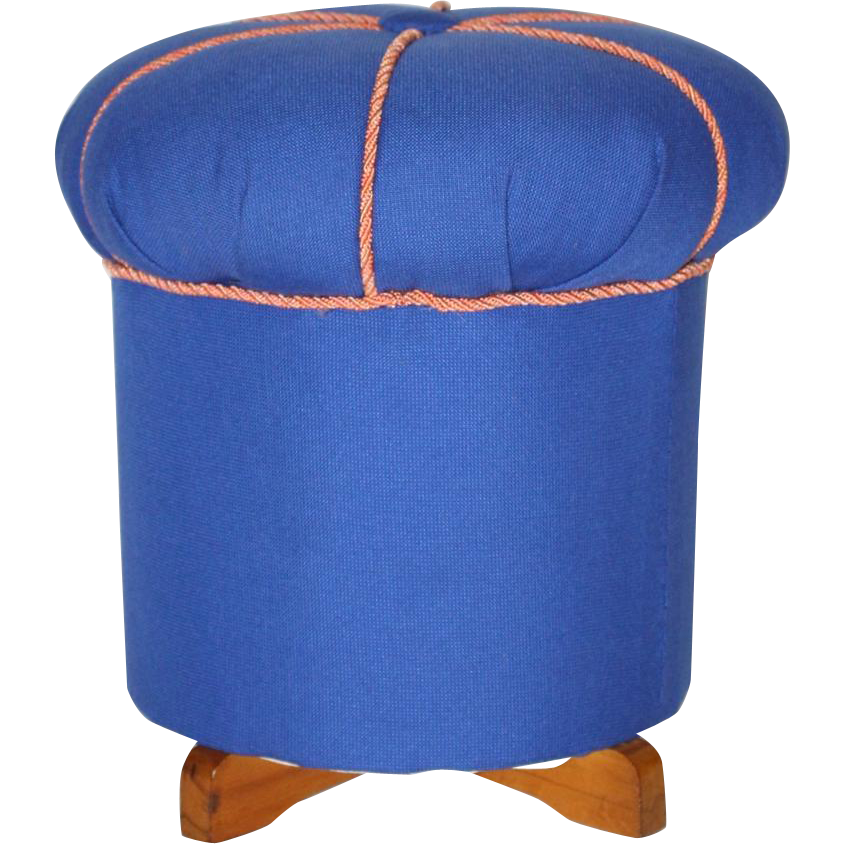 blue art deco pouf austria 1930s nobarock moderne antiquitaten rubylux. Black Bedroom Furniture Sets. Home Design Ideas