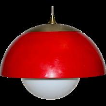 Mid Century Modern Red Pendant 1970