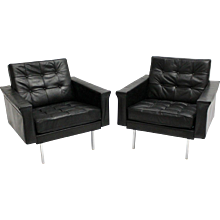 Mid Century Modern Pair of Club Chairs by Johannes Spalt Vienna 1960