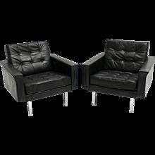 Mid Century Modern Pair of Club Chairs by Johannes Spalt Vienna 1960