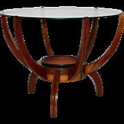 Walnut Coffee Table in the style of Carlo di Carli, 1950s