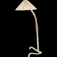 Brass Floor Lamp J.T.Kalmar attr. 1950s Vienna