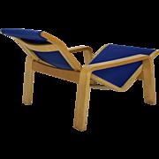 Blue Chaise Longue Pulkka by Ilmari Lappalainen 1963 Finland