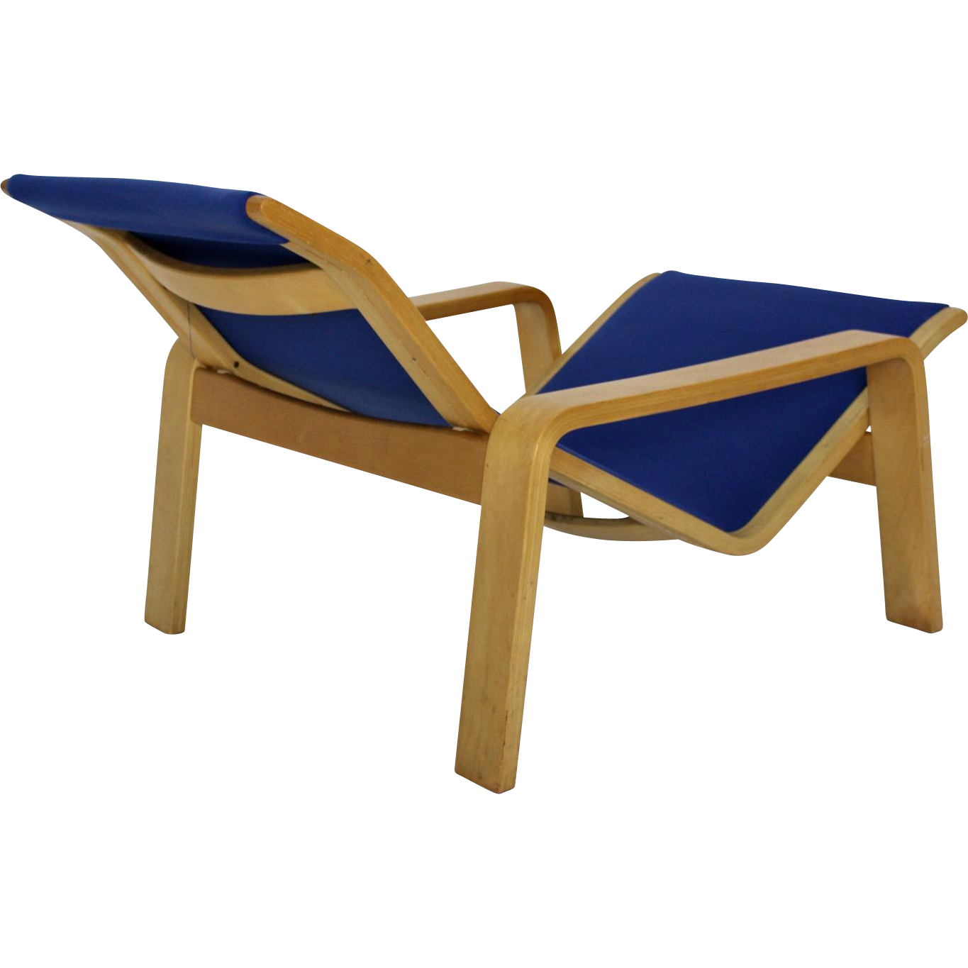 Blue chaise longue pulkka by ilmari lappalainen 1963 for Annabelle chaise
