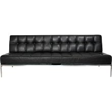 Black Leather Settee Constanze by Johannes Spalt Vienna circa 1960