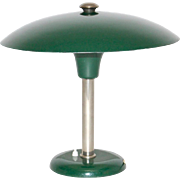 Green Art Deco Desk or Table Lamp by Max Schumacher 1934