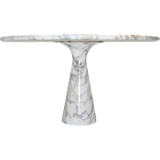 White Marble Dining Table by Angelo Mangiarotti T 70 1969 Italy