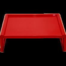 Red Folding Breakfast Table by Guzzini 1970 Italy