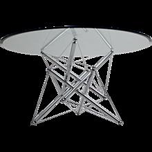Modern Chrome Dining Table 1970s