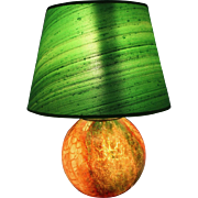 Green and Red Ball Table Lamp by WMF Germany 1940s