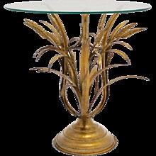 Mid Century Hollywood Regency Sheaf of Wheat Coffee Table 1950s
