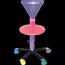Multicolored Pop Art  Swiveling Chair 1980s
