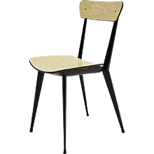 Set of three Metal Dining Chairs in the style of Carlo diCarli 1950s Italy