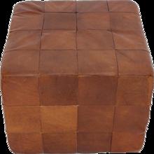 De Sede Cognac Patchwork Leather Cubus Stool 1970s Switzerland