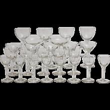 Jugendstil Stem Glassware circa 1910 Austria