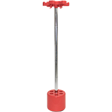 Red Coat Stand Pop Art by Roberto Lucchi and Paolo Orlandini Italy circa 1970