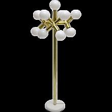 Brass  13 bulbs Atomic Floor Lamp by Trix & Robert Haussmann, 1960s Switzerland