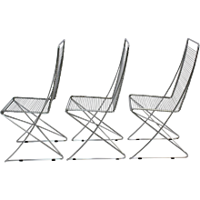 Three Chairs Kreuzschwinger by Till Behrens 1983 Germany