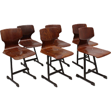 Set of six chairs by Flötotto 1970s Germany