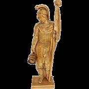 Wooden Folk Art Hand Carved Saint Florian 18th Century Austria
