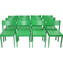 Green Mid Century Modern Carl Auböck Dining Room Chairs 1956 Vienna