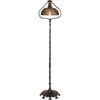 Tiffany Studios Favrile Glass and Bronze Floor Lamp
