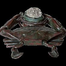 Tiffany Studios 'Crab' Inkwell