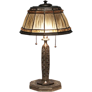 Abalone 'Favrile-Fabrique' Desk Lamp