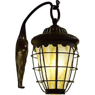 Pair of Tiffany Studios Lanterns