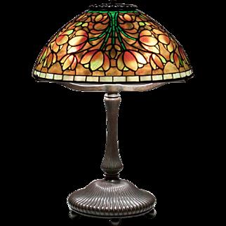 Early 'Tulip' Tiffany Studios Table Lamp