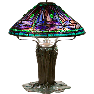 Exceptional Tiffany Studios Dragonfly Table Lamp