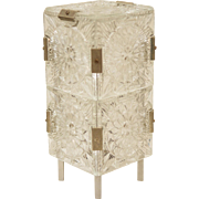 Mid Century Pressed Glass Table Lamp