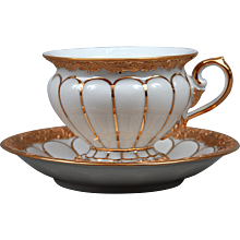 Meissen Cup With Golden Baroque Pattern