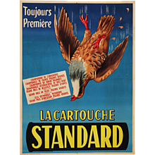 French poster, 'La cartouche Standard', Toulouse about 1930