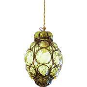 Seguso Murano Caged Glass Pendant Light