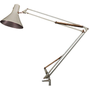 Grey Desk, Table Lamp By Luxo