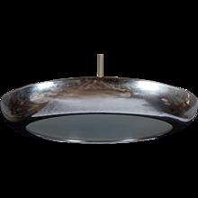 Large Bauhaus Functionalism Copper Pendant by Josef Hurka for Napako