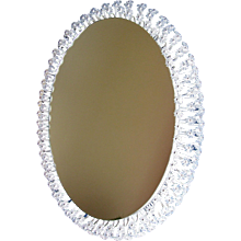 Oval Illuminated Mirror Designed by Emil Stejnar