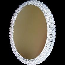 Beautiful Huge Oval Illuminated Mirror Designed by Emil Stejnar