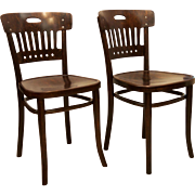 Thonet Sider Chairs Attributed to Marcel Kammerer