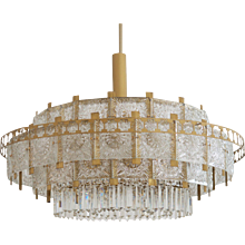 Imposing Huge Mid-Century Chandelier