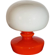 Glass Table Lamp from the 1970s
