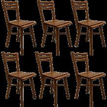 Set of Six Garden Chairs by J. & J. Kohn, Vienna
