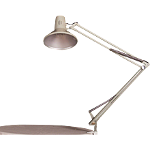 Grey Desk, Table Lamp by Luxo