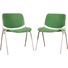 Set of Two Stackable Chairs by Giancarlo Piretti for Castelli