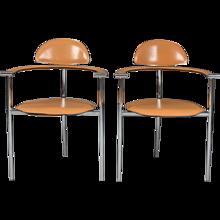 Set Of Four Arrben Italy Stiletto Armchairs
