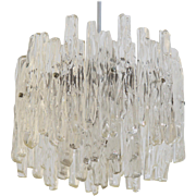 J.T. Kalmar Lucite Ice Glass Chandelier